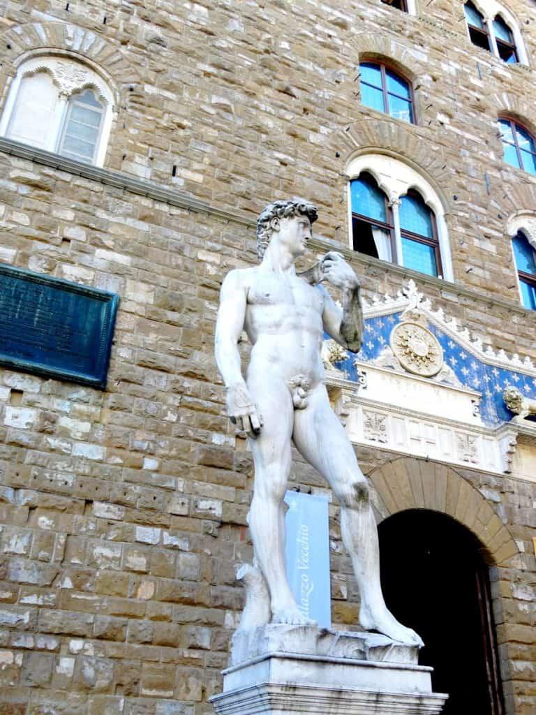 פסל דוד Piazza della Signoria